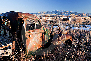 Vintage Car Abandoned Royalty Free Stock Photography - Image: 8352817