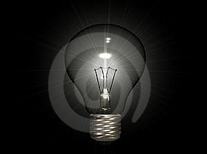 Bulb On Dark Royalty Free Stock Image - Image: 8352906