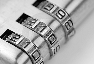 Number 911 On The Lock Royalty Free Stock Images - Image: 8352989