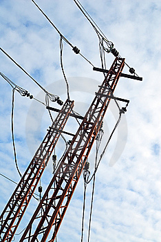 Metal Energy High Electrical Tower Royalty Free Stock Photo - Image: 8353165