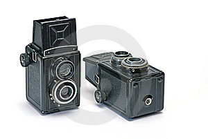 Two Old Photo Cameras Royalty Free Stock Photos - Image: 8353168