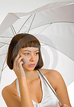 Conversation Under The Umbrella Stock Images - Image: 8354124