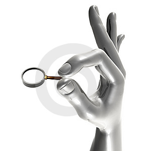 Hand Holding Magnifier Glass Royalty Free Stock Images - Image: 8354599