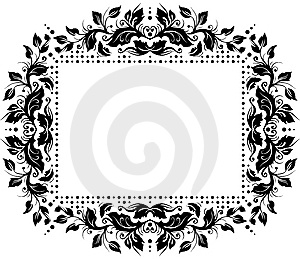 Floral Border Design Royalty Free Stock Image - Image: 8354776