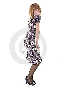Beautiful Woman In Dress Stock Image - Image: 8355491