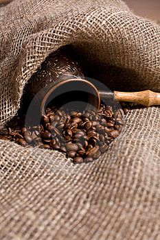 Cezve With Freshly Roasted Coffee Beans Royalty Free Stock Photography - Image: 8356537