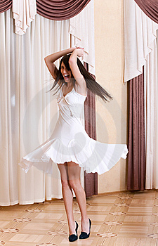 Happy Girl Spinning In A Room Stock Images - Image: 8356854