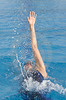 Female Backstroke Stock Images - Image: 8357134