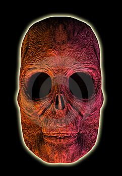 3D Glowing Skull Royalty Free Stock Photography - Image: 8357177