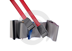 HDD Cables On White Stock Image - Image: 8357821