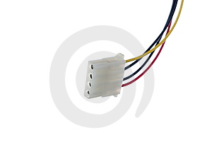 Power Supply Wire On White Stock Images - Image: 8357824