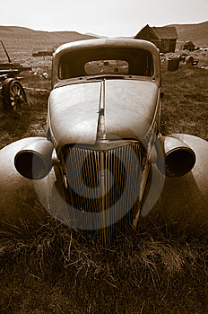 Deserted Car, Bodie Royalty Free Stock Image - Image: 8358196