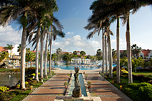 Caribbean Tropical Resort Royalty Free Stock Photography - Image: 8359097