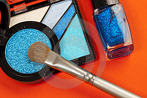 Blue Makeup Royalty Free Stock Photo - Image: 8359395