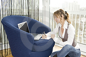 Working With Comfort Royalty Free Stock Photo - Image: 8360345