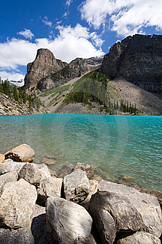 Lake Moraine Stock Photo - Image: 8360620