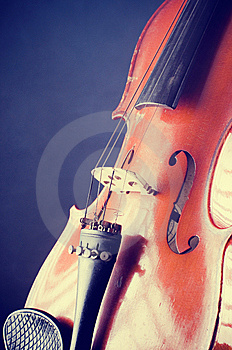 Violin Details Stock Images - Image: 8360654