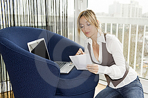 Working With Comfort Royalty Free Stock Photo - Image: 8361765