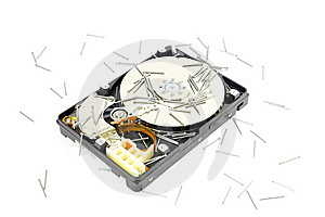 Hard Drive With Nail Royalty Free Stock Image - Image: 8361866