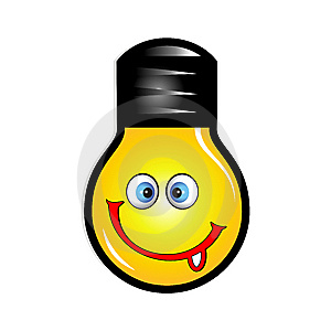 Smile Icon With Tongue Stock Photos - Image: 8361953