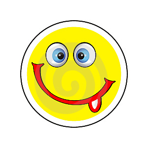 Smile Icon With Tongue Stock Photo - Image: 8362420