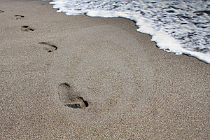Footprints In The Sand Royalty Free Stock Photo - Image: 8363035