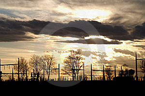 Substation Silhouette Royalty Free Stock Photo - Image: 8363165