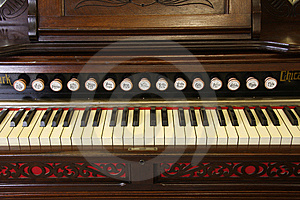 Reed Organ Keyboard Royalty Free Stock Photo - Image: 8363555