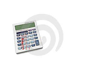 Bloody Calculator Concept. Royalty Free Stock Image - Image: 8363566