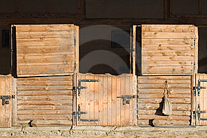 Opened Outdoor Stable Boxes Stock Image - Image: 8364321