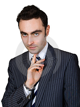 Thinking Businessman Stock Photos - Image: 8364503