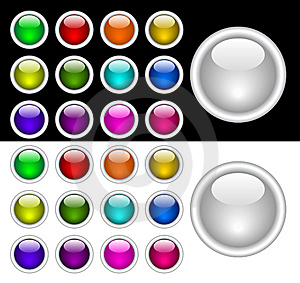 Color Buttons Royalty Free Stock Image - Image: 8365036