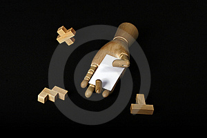 Wood And Card Royalty Free Stock Photography - Image: 8365497