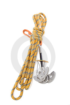 Camming Device And Rope Stock Image - Image: 8365801