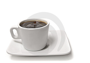 Cup Of Coffee On A White Background Stock Photos - Image: 8366623