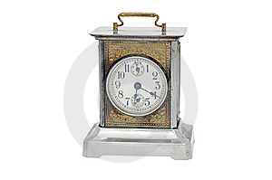 Vintage Alarm Clock Isolated On White Royalty Free Stock Photos - Image: 8367288