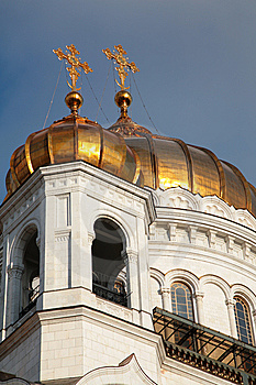 Fragment Of Temple Of Christ Of  Savior In Moscow Stock Image - Image: 8368781