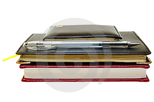 Three Notebooks (organizers) And Jell Pen. Royalty Free Stock Images - Image: 8368809