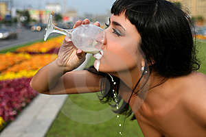 Milk And Thirst Royalty Free Stock Images - Image: 8369539