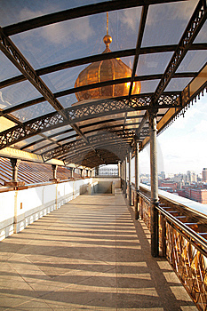 Covered Footbridge To Temple Of Christ Of Savior Stock Image - Image: 8370141