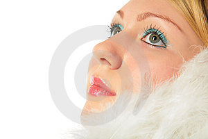 Close-up Portrait Of Blonde  Girl Stock Photography - Image: 8370412