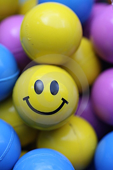 Smiley Face Ball Immagine Stock