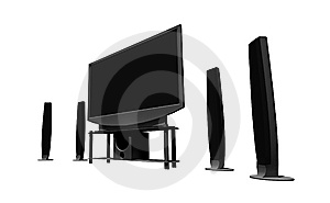 Home Theater / High Definition Television Stock Photo - Image: 8370540
