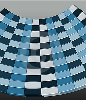 Blue 3D Checkerboard - Vector Illustration Royalty Free Stock Image - Image: 8371096