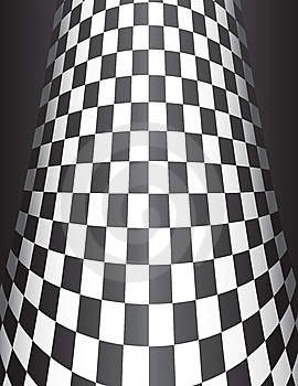Checker Board Cone Background Stock Images - Image: 8371124