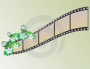 Banner In The Form Of Film Stock Image - Image: 8371421
