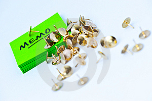 Memo With Tacks Royalty Free Stock Photo - Image: 8371425