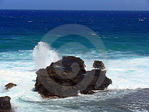 Splashing Waves Royalty Free Stock Image - Image: 8372846