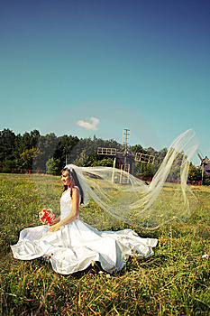 Bride With A Wedding Bouquet Royalty Free Stock Image - Image: 8372936