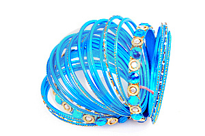 Blue Bangles Stock Photo - Image: 8373780